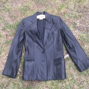 Vintage Ann Demeulemeester Butter Leather Jacket